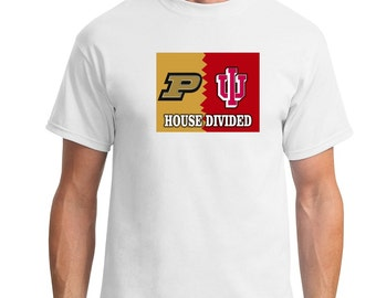House Divided T-shirts Custom Made any Sport team any college any military branch