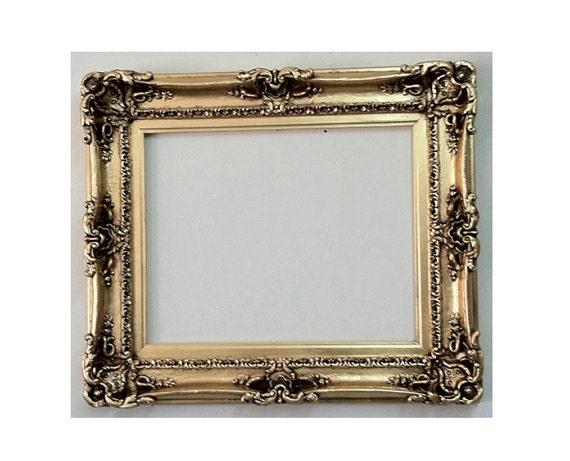 12x16 shabby chic frame decorative baroque mirror large for Unique mirror frames