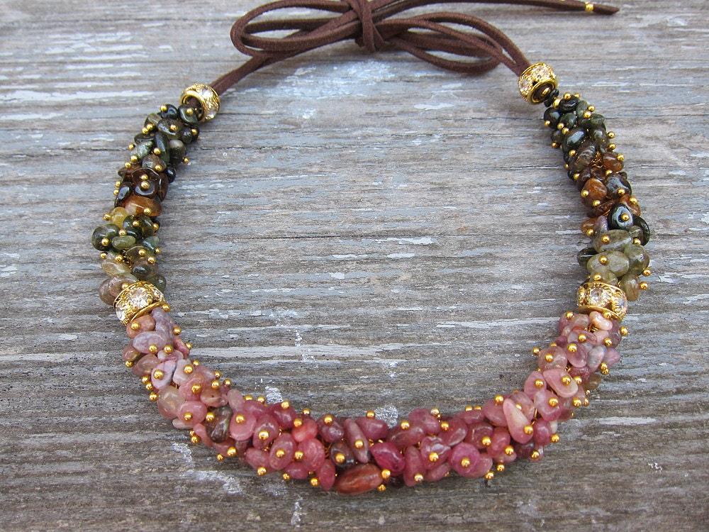 pink tourmaline necklace raw tourmaline necklace tourmaline. Black Bedroom Furniture Sets. Home Design Ideas