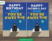 Happy Birthday Card or Happy Fathers Day - Star Wars Card - Happy Birthday Dad - Darth Vader