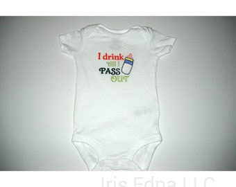 Funny Baby Bodysuit - Bottle Baby Long Sleeve or Short Sleeve