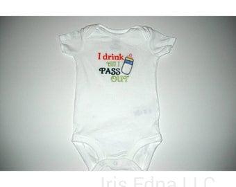 Funny Baby Onesie - Bottle Onesie Long Sleeve or Short Sleeve