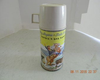 Vintage Roy Rogers American Thermos bottle for the Roy Rogers lunch box 50s era