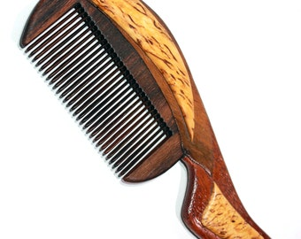 wooden comb from red wood