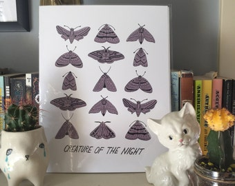 Creature Of The Night Moth Print