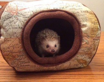 Hide, Map Patterned, for hedgehogs, guinea pigs, rats and other small animals