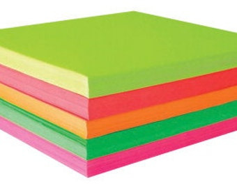 fluorescent origami paper (500 sheets)