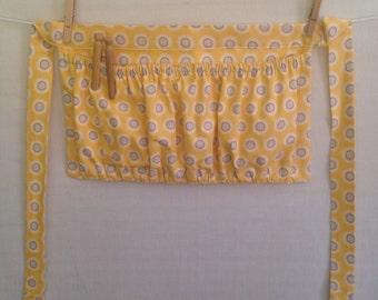 Clothespin apron, harvest apron, gardening apron, egg gathering apron/ half apron