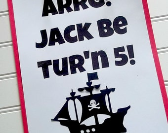 pirate ship door sign, pirate party sign, pirate birthday sign, pirate party decor, pirate ship decor