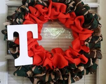 Camo Burlap Wreath