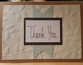 Thank You - Blank Message Greeting Card
