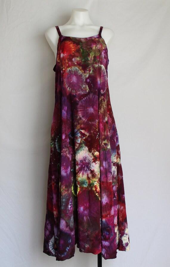 tie dye rayon sundress summer dress dyed clothing