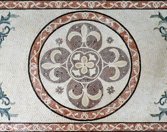 Carpet Design Marble Mosaic tiles