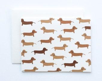 Dachshund Card, Doxie Card, Dog Card, Dog Cards