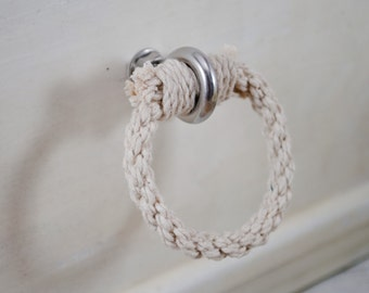 Cotton Rope Loop Drawer Pulls/Knob - Simple, Rustic, Shabby Chic