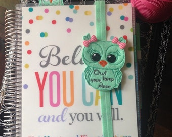 Owl Keep your Place Feltie Planner Band