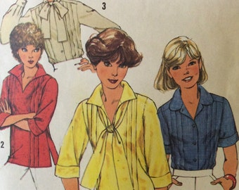Vintage 1970's Simplicity 8209 Sewing Pattern - Blouse and Pullover Pattern