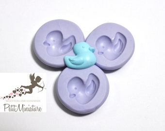 Flexible silicone mold duck 20mm polymer clay jewelry kawaii ST212