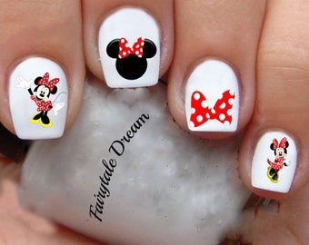 K1208 Minnie Mouse KIDS 20 Water Slide Nail Art Transfer Decals stickers