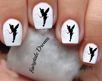 Tinkerbell nail art etsy 1215 tinkerbell 20 water slide nail art transfer decals stickers prinsesfo Images