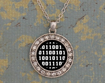 Computer Coding Club Round Necklace