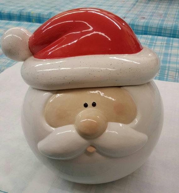 Items Similar To Sale Ceramic Santa Cookie Jar Super
