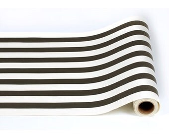 "Paper Table Runner Roll 20"" by 25' - Classic Black and White Pattern"