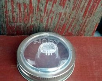 Canning Jar Sippy Cup Replacement Lid | Nuby Sippy Kids Eco Mason Jar Lid DIY | Children's Drinking Lid | Eco Mason Jar Lid |Canning Jar Lid