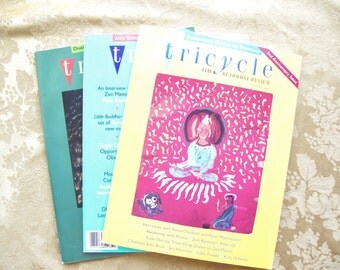 Vintage 3 pack of Tricycle Buddhist Review Magazines from 1993