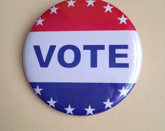 "2.25"" Pinback Button Vote"
