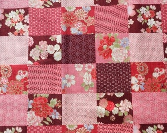 Patchwork style. Japanese fabric. Japanese cotton fabric. Fabric by half yard or half meter.