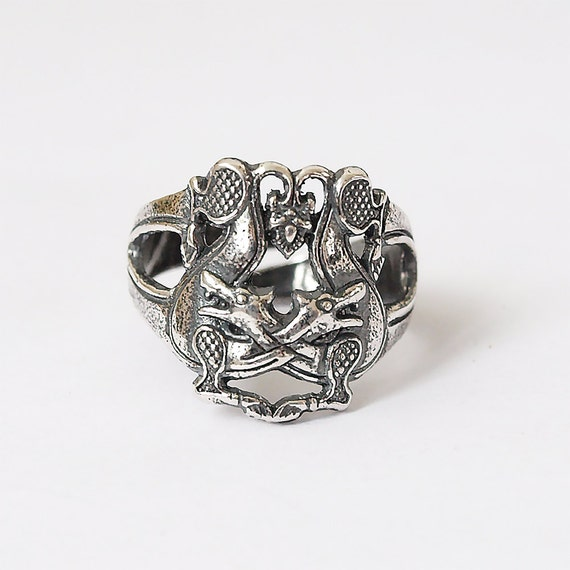 two wolves wolf ring wolves ring celtic wolves by