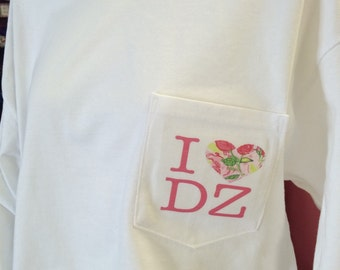 I love Delta Zeta Digital Tee