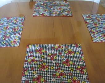 Placemats, Place Mats, Padded Placemats, Quilted Placemats, Country Decor  Placemats, Casual