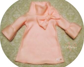 Light Pink Fleece Bow Dress