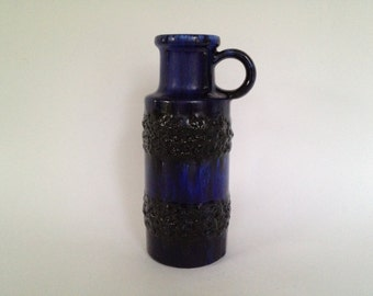 Scheurich Keramik 401 / 20 vintage handled vase Mid Century Modernist West German Pottery  made in the 1970s