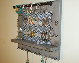Dangle Earring Organizer- Large Wall Hanging Jewelry Display-Earring Display-Jewelry Organization Necklace Holder/Jewelry Storage Display