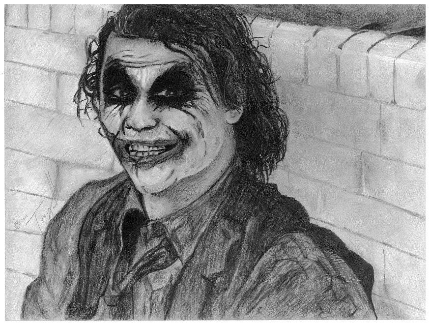 how to draw dark knight joker
