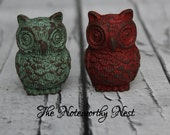 Owl knob // Decorative knobs // drawer pulls // cabinet knob // dresser knobs // unique knobs // woodland knob // owl pull //