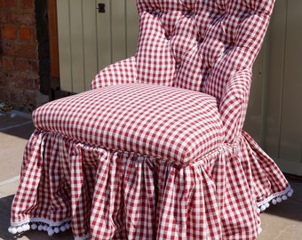 A Vintage French Upholstered Nursing Chair