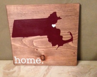 Massachusetts Wood Sign, State Sign, Custom Wood Sign, Pallet Sign, Personalized Wood Sign, home decor, wall art, moving gift