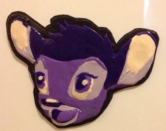 Purple Bambi Magnet