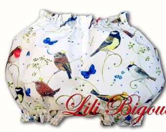 Bloomer baby printed white birds
