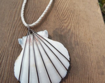 Wire Wrapped Shell Necklace Versioin 6