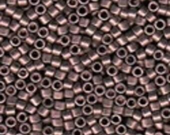 MIYUKI #11 Delica 462 - Nickel Plated Deep Mauve - 5 grams