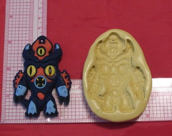 Big Hero 6 Fredzilla Silicone Mold Food #177 for Candy Cake Chocolate Resin Clay