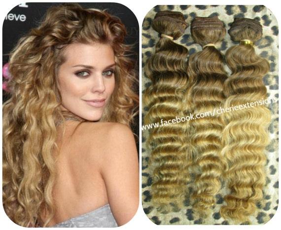 Kinky Curly Curl Brazilian Ombre Dip Dye Weft Bundle Weave