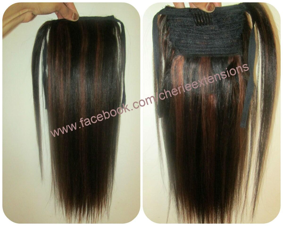 Balayage dip dye 8a remy human hair wrap around ponytail hair zoom pmusecretfo Images