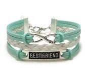 Best Friend Bracelet, Friendship Bracelet, Best Friend Gift, BFF Gift, Best Friend Infinity Bracelet, BFF Infinity Bracelet, BFF Jewelry