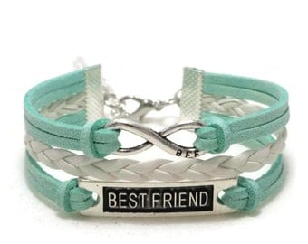 Best Friend Bracelet, Friendship Bracelet, Best Friend Gift, BFF bracelet, Best Friend Jewelry, Best Friend Infinity,  BFF Gift, BFF Jewelry